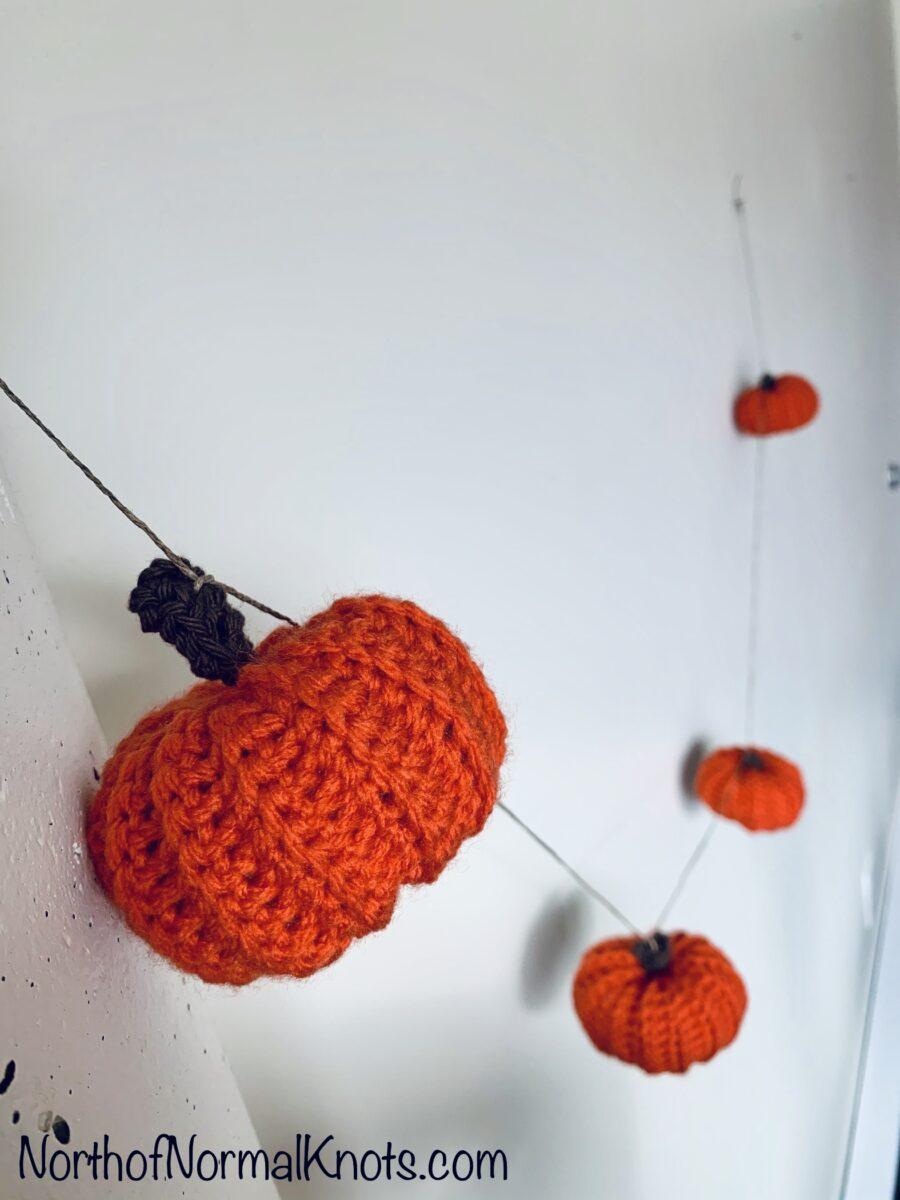 Crochet Pumpkin Garland Easy Fall Beginner Diy Project North Of Normal Knots
